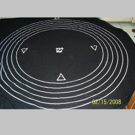 7th Degree Initiation Floorcloth